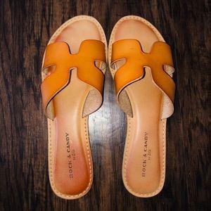 Tan Slide Sandals